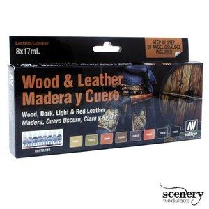 Vallejo Model Color Wood and Leather - 8 kleuren - 17ml - 70182