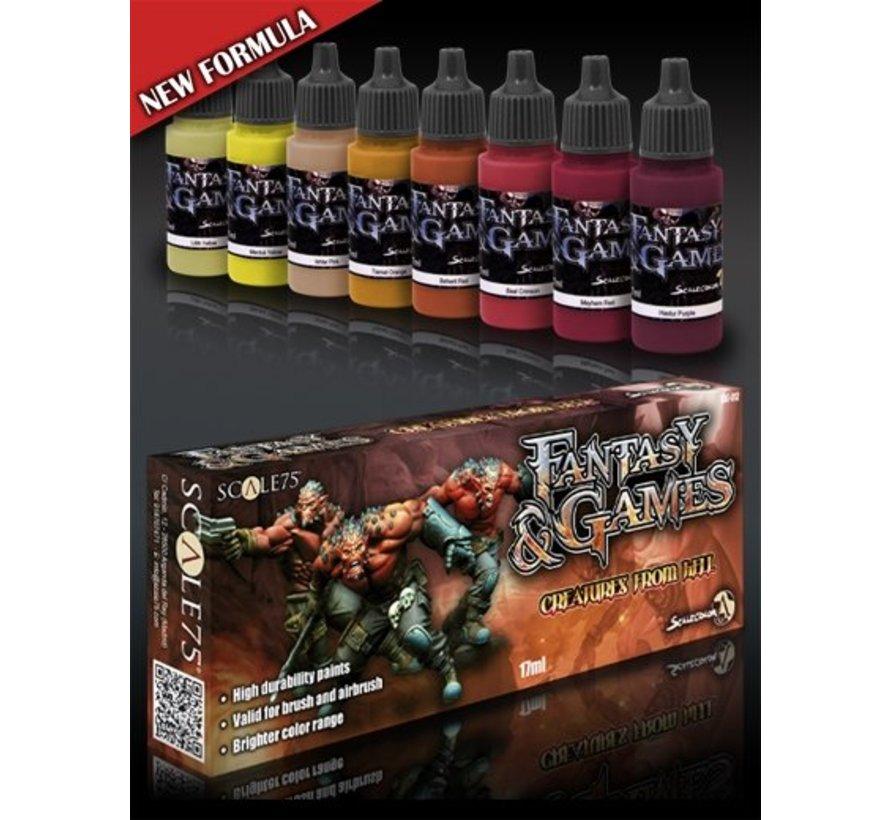 Creatures from Hell - Fantasy & Games - 8 kleuren - 17ml - SSE-014