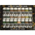 Vallejo Model Color Panzer Aces Camouflage Colors - 16 kleuren - 17ml - 70179