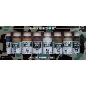 Vallejo Model Color Panzer Aces No2 - Wood, leather, stencil - 8 kleuren - 17ml - 70123