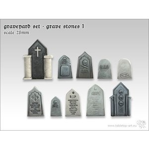 Tabletop-Art Graveyard Set - Grave Stones 1 - TTA601043