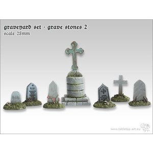 Tabletop-Art Graveyard Set - Grave Stones 2 - TTA601044