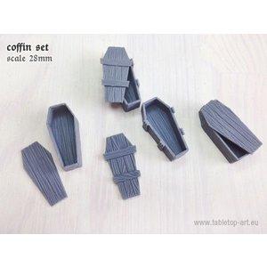 Tabletop-Art Wood coffins set - TTA601048