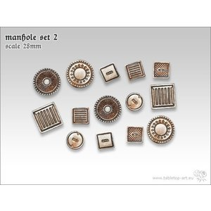 Tabletop-Art Manhole Set 2 - TTA601042