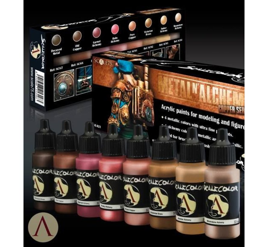 Metal'n Alchemy - Copper metallic paint set - 8 kleuren - 17ml - SSE-021