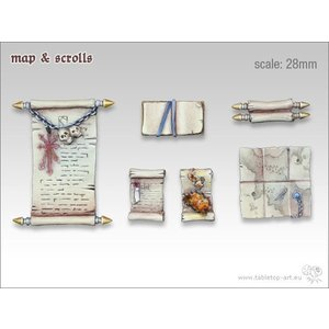 Tabletop-Art Map & Scrolls - TTA600026