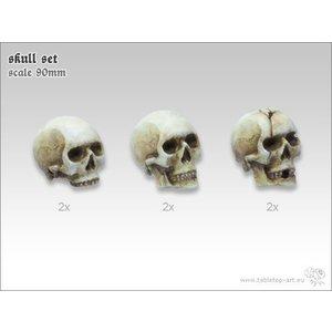 Tabletop-Art Skull Set 90mm - 6x - TTA600032