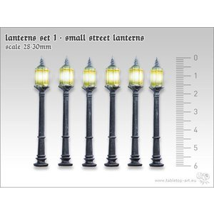 Tabletop-Art Lanterns set 1 - Small street lanterns - TTA601055