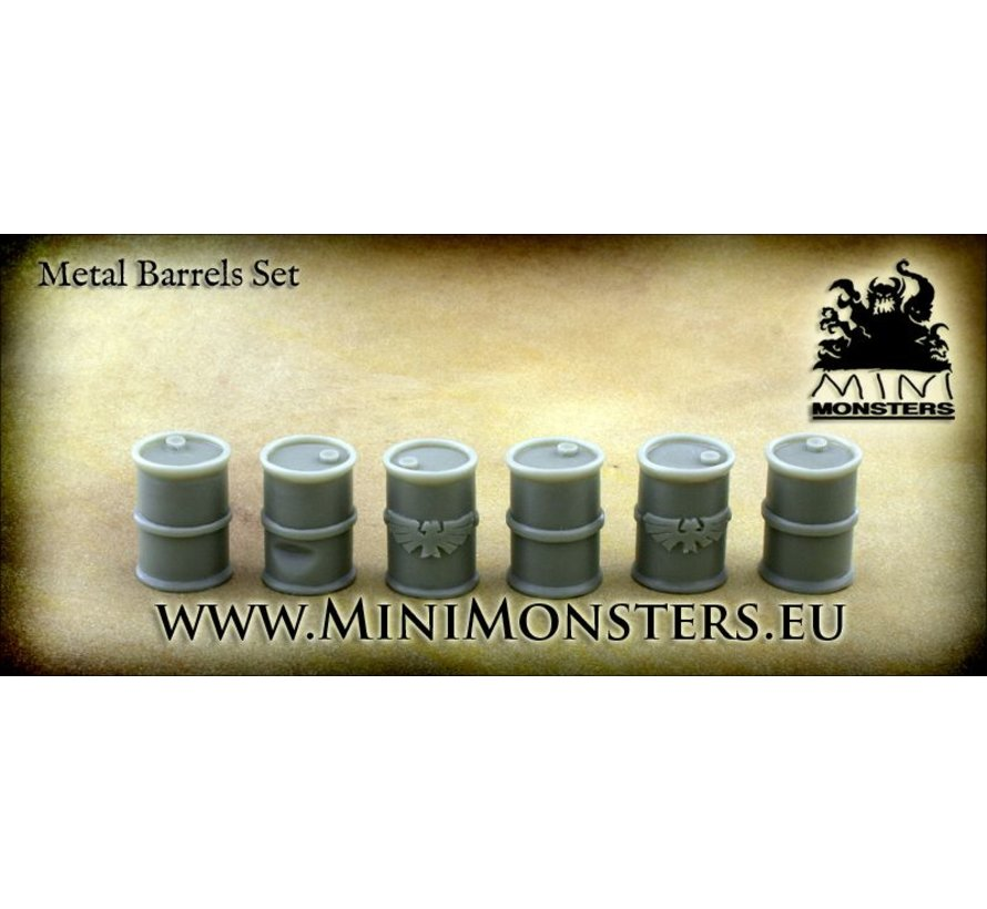 Metal Barrels - 6 stuks - MM-14