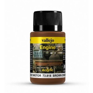 Vallejo Brown Engine Soot Engine Effects Weathering Effects - 40ml - 73818