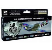 Vallejo Model Air WWII RAF Day Fighters Colors - 8 kleuren - 17ml - 71162
