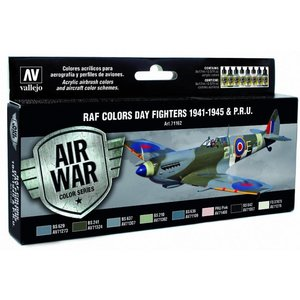 Vallejo Model Air WWII RAF Day Fighters Colors - 8 kleuren - 17ml - 71162