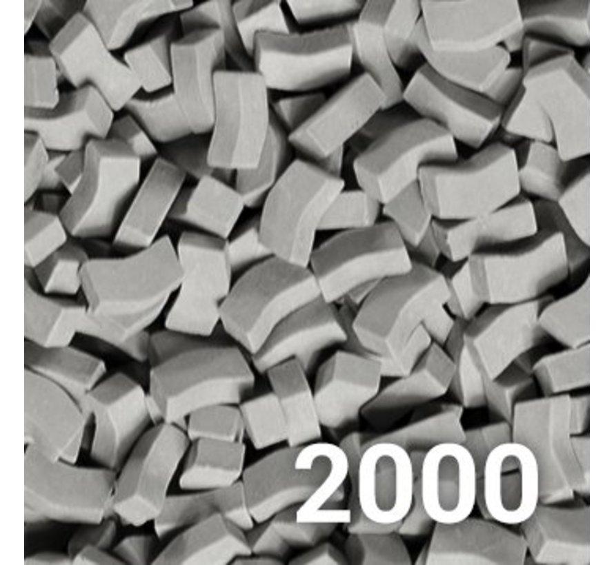 Grijs donker stoeptegel 1:32 - 2000x - 23085