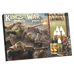 The Army Painter Warpaints Kings of War Dwarfs Paint Set - 10 kleuren - 17 ml - WP8015