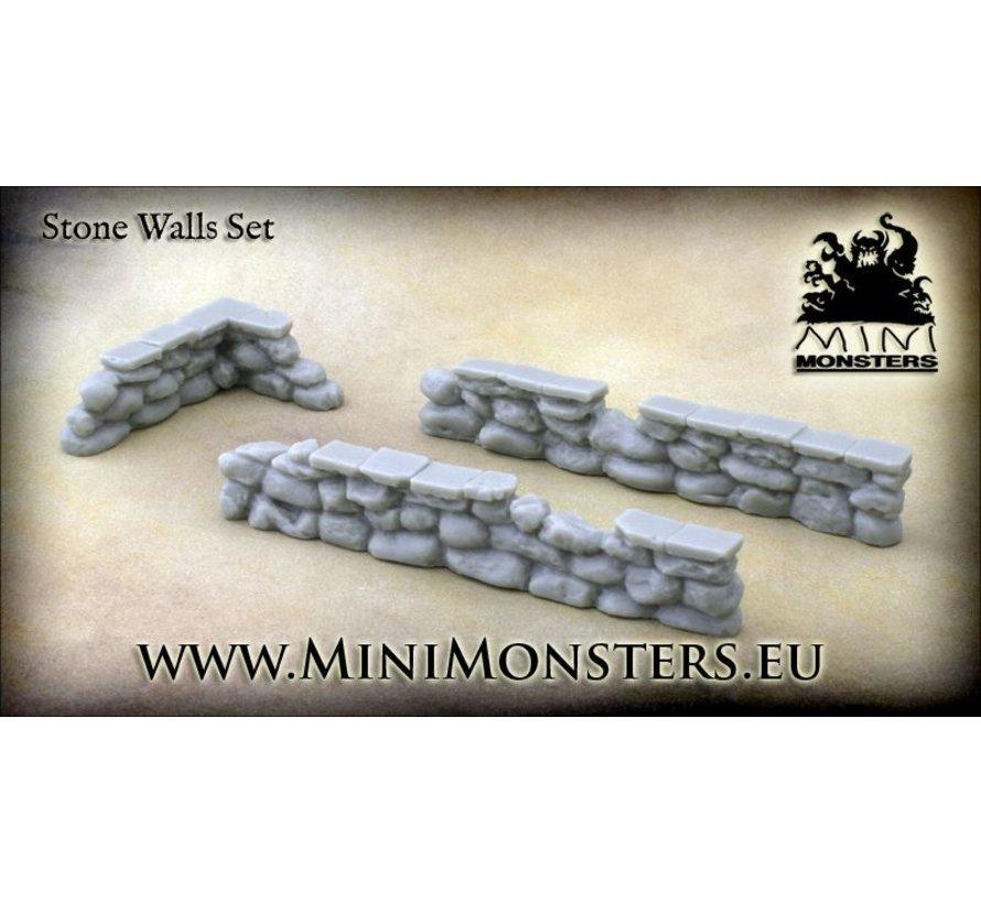 Stone Walls set 1 - 3st - MM-30