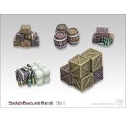 Tabletop-Art Stacked boxes and Barrels set 1 - TTA600016