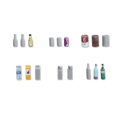 Tabletop-Art Beverage Bottles and Cans - TTA601060