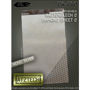 Ätztech Diamant Plaat Groot - Photo-Etch - AT-SH-RG-2