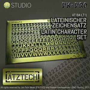 Ätztech Ätztech Cijfers en Letters - Photo-Etch - AT-BA-LT-1