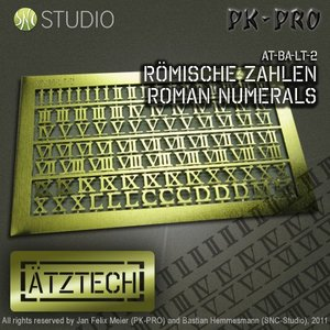 Ätztech Ätztech Romeinse Cijfers - Photo-Etch - AT-BA-LT-2