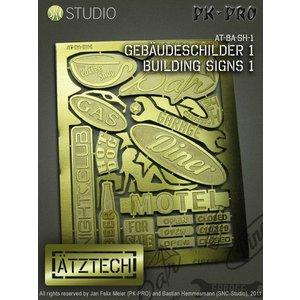 Ätztech Ätztech Building Signs City - Photo-Etch - AT-BA-SH-1