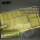 Ätztech Zombies Waarschuwingsborden - Photo-Etch - AT-BA-SI-3