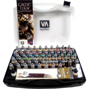 Vallejo Game Color Basic Set + brushes - 72 kleuren - 17ml - 72172