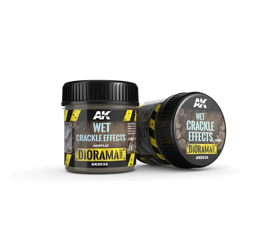 Wet Crackle Effects - Diorama Series - 100ml - AK-8034