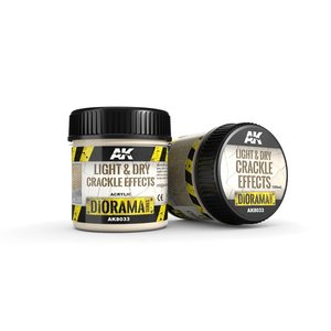 AK interactive Light & Dry Crackle Effects - Diorama Series - 100ml - AK-8033