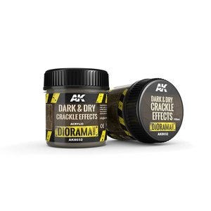AK interactive Dark & Dry Crackle Effects - Diorama Series - 100ml - AK-8032
