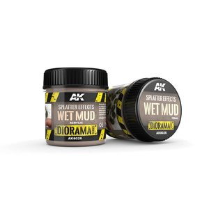 AK interactive Splatter Effects Wet Mud - Diorama Series - 100ml - AK-8026