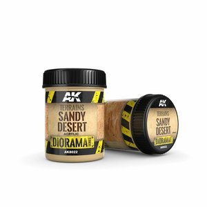 AK interactive Terrains Sandy Desert - Diorama Series - 250ml - AK-8022