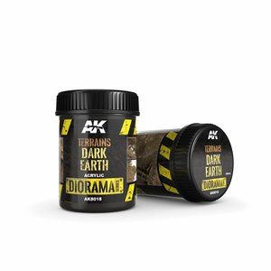 AK interactive Terrains Dark Earth - Diorama Series - 250ml - AK-8018