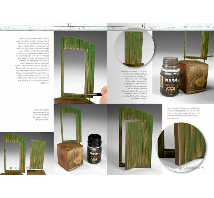 Realistic Wood Effects Improved Editon - AK Learning Series nr 1 - 86pag - AK-259