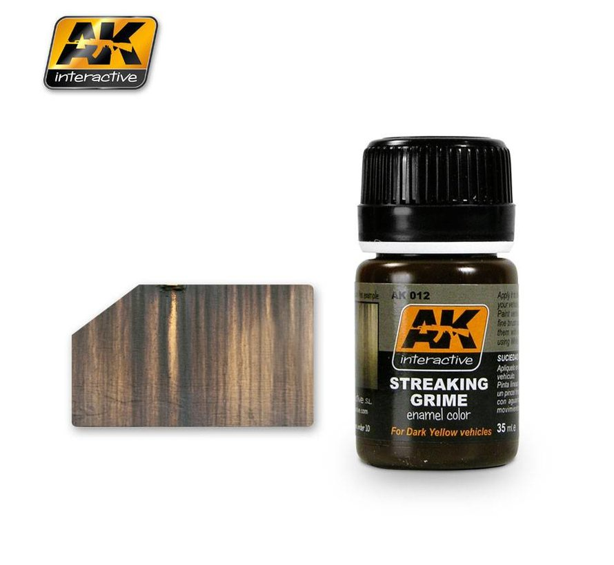 Streaking Grime General - AK Weathering Products - 35ml - AK012
