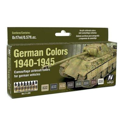 Vallejo Model Air German Colors 1940-1945 - 8 kleuren - 17ml - 71206