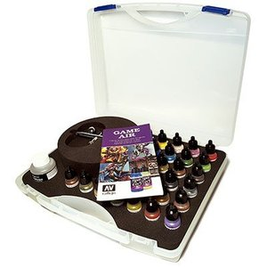 Vallejo Game Air Paint Set - Basic Game Air Colors & Airbrush - 28 kleuren - 17ml - 72871