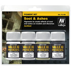 Vallejo Pigment Set Soot & Ashes - 4 kleuren - 35ml - 73193
