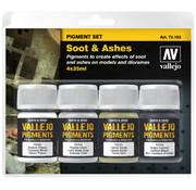 Vallejo Pigment Set Soot & Ashes - 4 kleuren - 35ml - 73193