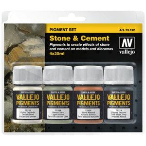 Vallejo Pigment Set Stone & Cement - 4 kleuren - 35ml - 73192