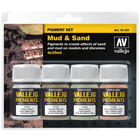 Vallejo Pigment Set Mud & Sand - 4 kleuren - 35ml - 71391