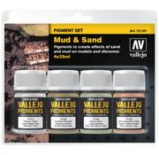 Vallejo Pigment Set Mud & Sand - 4 kleuren - 35ml - 73191