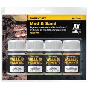 Vallejo Pigment Set Mud & Sand - 4 kleuren - 35ml - 71391