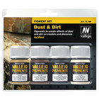 Vallejo Pigment Set Dust & Dirt - 4 kleuren - 35ml - 71390