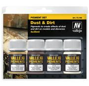 Vallejo Pigment Set Dust & Dirt - 4 kleuren - 35ml - 73190