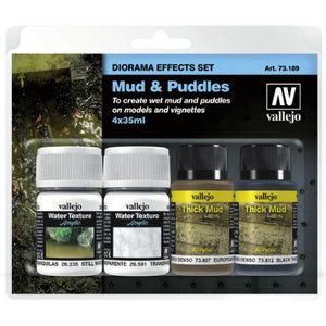 Vallejo Diorama Effects Set Mud & Puddles - 35ml - 71389