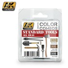 AK interactive Standard Tools All Eras Color Combos - 3 colors - 17ml - AK-4174