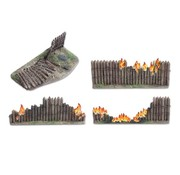 Tabletop-Art Wooden stockade destroyed 28mm - TTA800016