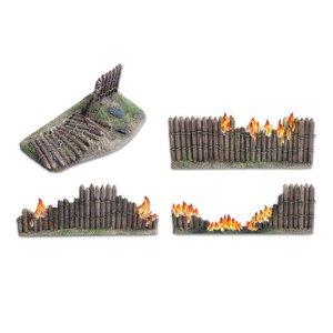 Tabletop-Art Wooden stockade destroyed 28mm - TTA800016