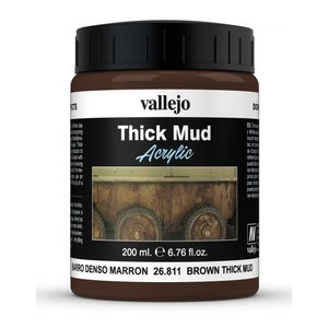 Vallejo Brown Mud Thick Mud Weathering Effects - 200ml - 26811